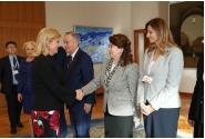 Dejun de lucru oferit prim-ministrului Viorica Dăncilă, de către președintele Republicii Croația, Kolinda Grabar – Kitarović