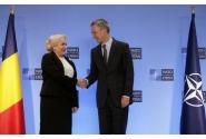 Întâmpinarea premierului Viorica Dăncilă de către Secretarul General al NATO, Jens Stoltenberg, la sediul Cartierului General al NATO