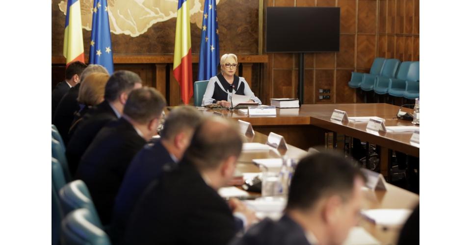Déclarations du Premier ministre Viorica Dăncilă au début de la réunion du Gouvernement