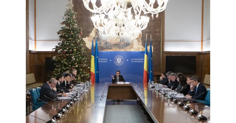 Ședința de guvern - 13 decembrie