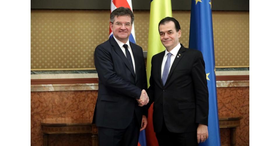 Întrevederea premierului Ludovic Orban cu Miroslav Lajčák, ministrul afacerilor externe al(...)