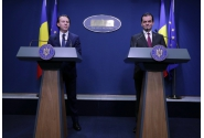 Declarații de presă susținute de premierul desemnat, Florin Cîțu, și de premierul interimar, Ludovic Orban, la Palatul Victoria
