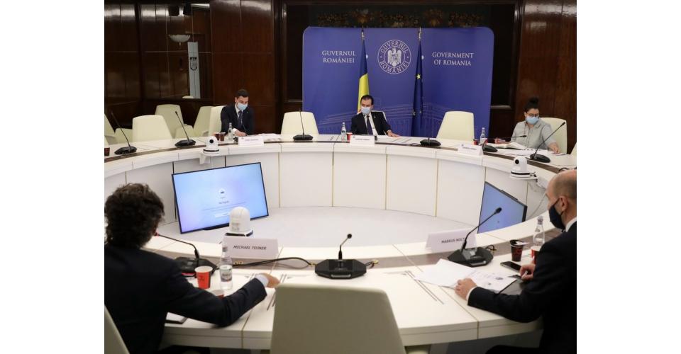 Întâlnirea premierului Ludovic Orban cu reprezentanții companiei Montana Group
