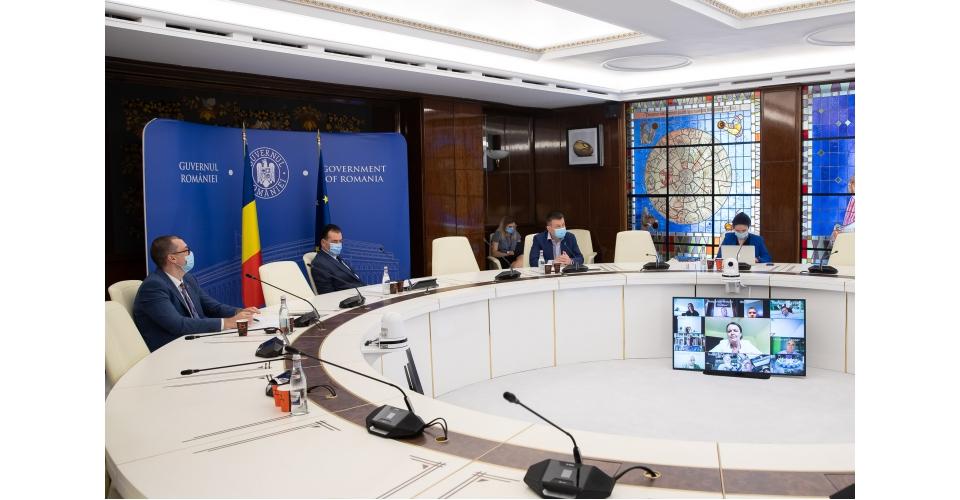Consultările premierului Ludovic Orban, în sistem videoconferință, cu reprezentanții(...)