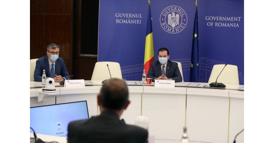 Entrevue du Premier ministre Ludovic Orban avec Simone Mori, responsable pour Europe et affaires(...)