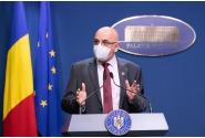 Briefing de presă susținut de ministrul Fondurilor Europene, Marcel Boloș, șeful Cancelariei Prim-ministrului, Ionel Dancă, și secretarul de stat în Ministerul Afacerilor Interne, Raed Arafat, la finalul ședinței de guvern