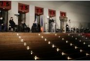Interim Prime Minister Nicolae-Ionel Ciucă attends the first Hanukkah candle lighting ceremony