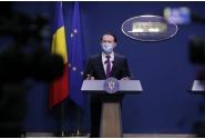 Briefing de presă susținut de premierul Florin Cîţu, ministrul muncii, Raluca Turcan, și ministrul transporturilor, Cătălin Drulă, la finalul ședinței de guvern din 7 aprilie