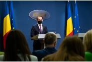 Briefing de presă la finalul ședinței de guvern din 14 iulie, susținut de premierul Florin Cîţu și de ministrul educației, Sorin Cîmpeanu