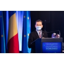 Prime Minister Ludovic Orban attends the launch of the Draft National Recovery and Resilience Plan