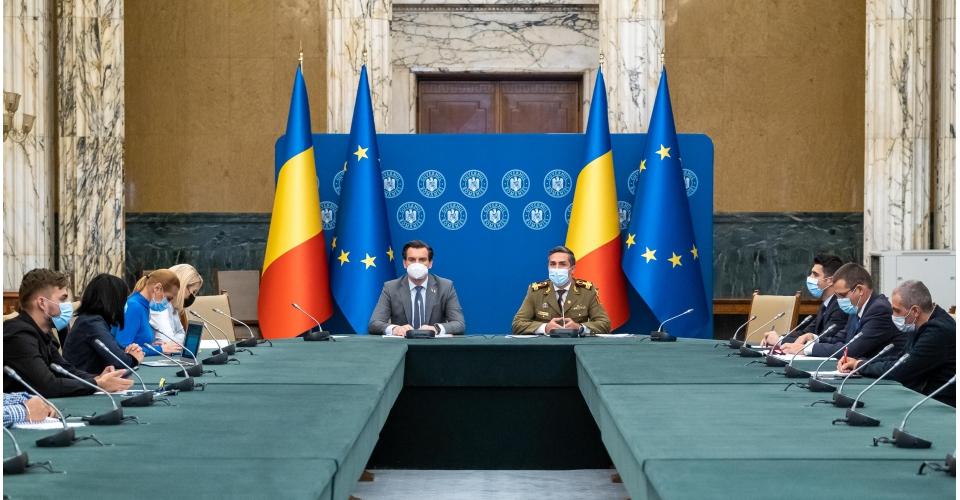 Conférence de presse donnée par Valeriu Gheorghiță, président du Comité national de(...)