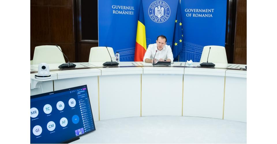 Le Premier ministre Florin Cîțu a participé à la réunion en ligne sur la mise en œuvre du(...)