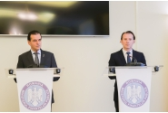 Participarea prim-ministrului Ludovic Orban la preluarea mandatului de ministru al finanțelor publice de către Vasile-Florin Cîțu