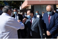 Vizita premierului Ludovic Orban la șantierul spitalului modular ATI pentru pacienții cu COVID-19, amenajat în curtea Spitalului Clinic Județean de Urgență Brașov