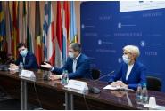 Vizită de lucru a vicepremierului Raluca Turcan, împreună cu primarul general ales al Capitalei, Nicușor Dan, la Ministerul Fondurilor Europene