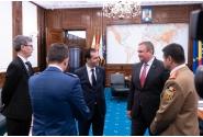 Întâlnire de lucru a premierului Ludovic Orban cu ministrul apărării naționale, Ionel Nicolae Ciucă, si cu ministrul economiei, energiei și mediului de afaceri, Virgil Daniel Popescu