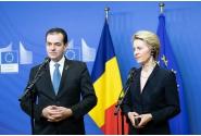 Întrevederea premierului Ludovic Orban cu Ursula von der Leyen, președintele Comisiei Europene, și declarații comune de presă
