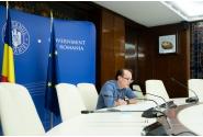 Participarea premierului Florin Cîțu la videoconferința cu reprezentanții Centrului Național de Conducere și Coordonare a Intervenției (CNCCI) Ciolpani (șeful DSU, Raed Arafat, reprezentanții Ministerului Sănătății, directorul Centrului CNSCBT, dr. Adrian