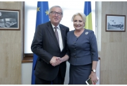 Prime Minister Viorica Dancila meets with the President of the European Commission Jean –Claude Juncker