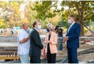 Vizita premierului Florin Cîțu la Spitalul Universitar de Urgență București, împreună cu președinta Comisiei Europene, Ursula von der Leyen, și cu președintele României, Klaus Iohannis