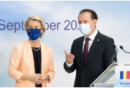 Conferința de presă comună susținută de președinta Comisiei Europene, Ursula von der Leyen, președintele României, Klaus Iohannis, și prim-ministrul Florin Cîțu
