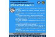 26 februarie -  Recomandări generale privind prevenirea infectiei cu CORONAVIRUS (COVID-19)