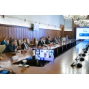 Participation du Premier ministre Ludovic Orban au Groupe de travail interinstitutionnel ECOROM avec les représentants(...)