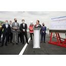 Participarea premierului Florin Cîțu la momentul deschiderii traficului pe Pasajul Mogoșoaia, împreună cu(...)