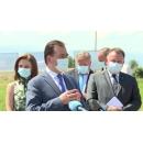 Premierul Ludovic Orban a participat la prezentarea amplasamentului noului Spital Clinic Județean de Urgență Sibiu