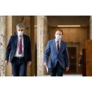 Briefing de presă la finalul ședinței de guvern din 5 august, susținut de premierul Florin Cîţu și de șeful(...)