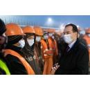 Verificarea stadiului lucrărilor șantierului Drumului Expres Craiova Pitești, Tronson 2, de către premierul Ludovic(...)