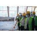 Visite du Premier ministre Ludovic Orban sur le chantier de construction de la piscine olympique de Brăila, un(...)