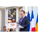 Prime Minister Florin Cîțu attends the reception held on the occasion of the National Day of the French Republic