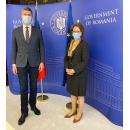 Viceprim-ministrul Dan Barna a primit-o pe Excelența Sa doamna Isabel Rauscher, ambasadoarea Republicii Austria
