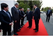 Primirea oficială a Primului-ministru Victor Ponta, de către omologul său iordanian Abdullah Ensour, la sediul Guvernului Regatului Haşemit al Iordaniei