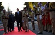 Ceremonia primirii oficiale cu onoruri militare a premierului Victor Ponta, de către omologul său iordanian Abdullah Ensour, la sediul Guvernului Regatului Haşemit al Iordaniei